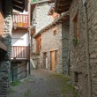 Stone homes in La Thuille — Stock Photo