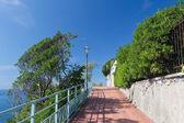 Genova Nervi promenade — Stock Photo