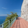 Promenade in Nervi, Genova - Stock Photo