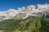 Mont Blanc massif from Ferret valley — Stock Photo