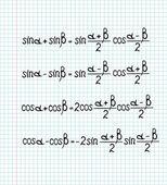 Wiskundige formules — Stockvector