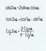 Fórmulas matemáticas — Vector de stock
