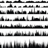 Interlacing white and black stripes — Stock Vector