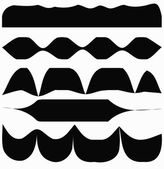 The angular white and black stripes — Stock Vector