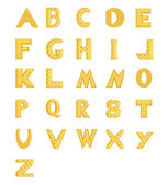 The gold alphabet — Stockvektor
