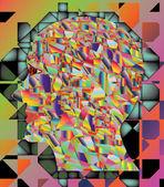 Die abstraktion des menschlichen kopfes — Stockvektor