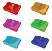 各种,多彩多姿,计算机图标 — 图库矢量图片