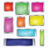 Varios iconos de computadora de color — Vector de stock