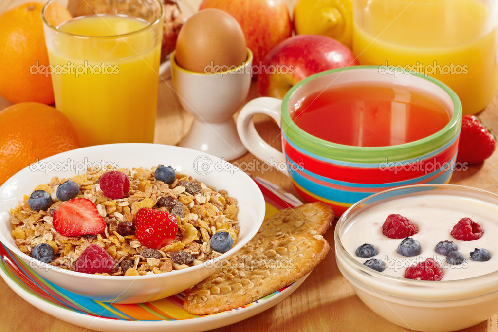 Healthy breakfast — Stockfoto #3322143