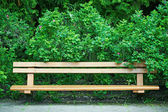 Bench in old park — Stock Photo