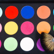 Make-up palette with brush — Stock Photo