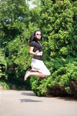 Woman jumping — Stock Photo