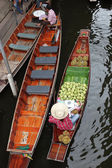 Damnoek Saduak Floating Market, Thailand — Stock Photo