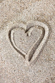 Hjärtformade ritning — Stockfoto