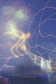 Kaotik renkli ışıklar — Stok fotoğraf