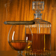 Glass of whisky with cigar - Stock Photo