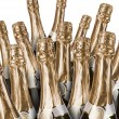 Stock Photo: Lot of champagne bottles