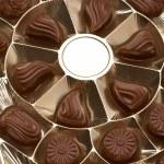 Box with chocolates — Stock Photo