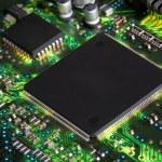 Closeup of electronic circuit board — Stock Photo