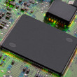 Closeup of electronic circuit board - Photo