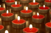 Candles in darkness — Stock Photo