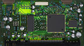Closeup of electronic circuit board — Stockfoto