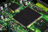 Closeup of electronic circuit board — Stock fotografie