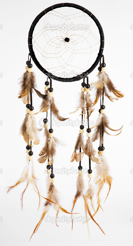 Indian dreamcatcher on a white background — Stock Photo #3375886