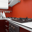 Modern kitchen in new house — Stock Photo