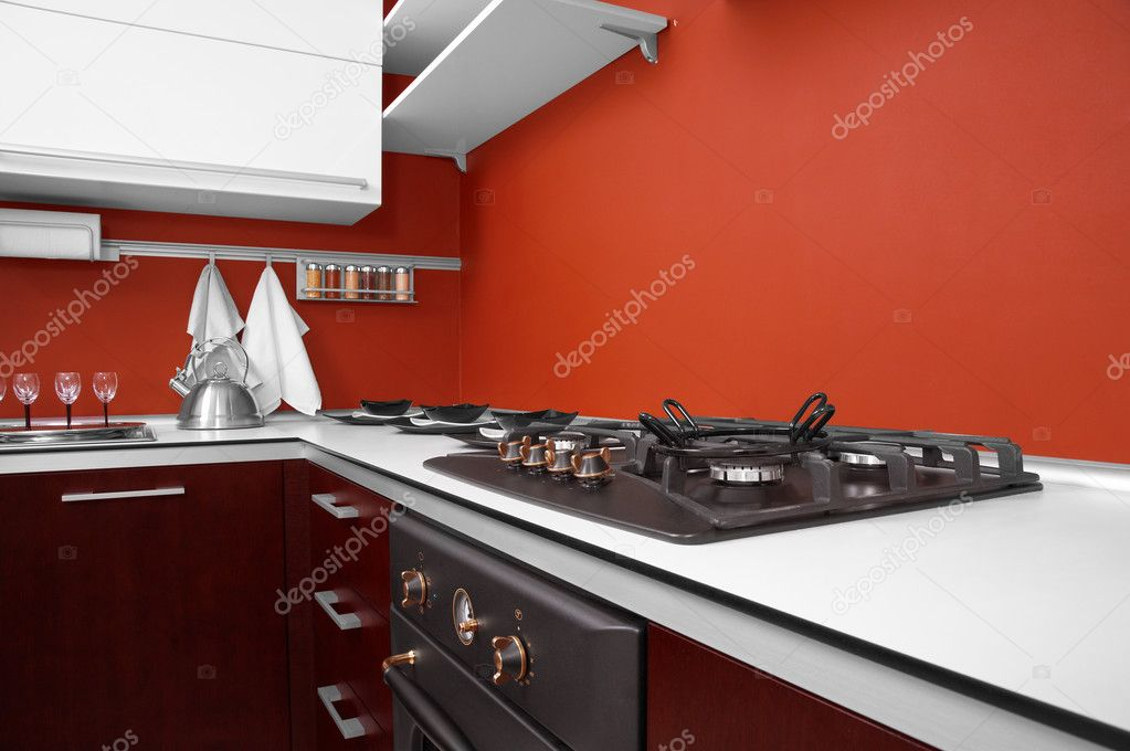 Modern kitchen in new house — Stock Photo #3549320