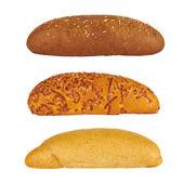Three rolls of bread — Stock Photo