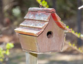 Worn Birdhouse — Stock Photo