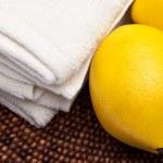 Fresh Lemon Spa Scene — Stock Photo