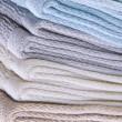 Stock Photo: Neutral Colored Bath Towels