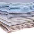 Neutral Colored Bath Towels — Stock Photo