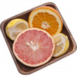 Bowl of Sliced Citrus — Stock Photo
