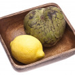 Lemon and Cherimoya — Stock Photo