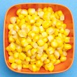 Bowl of Canned Corn - Stock Photo