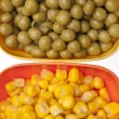 Macro of Vibrant Peas and Corn — Stock Photo #2843742