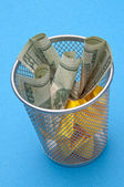 Throwing Money Away — Stock Photo