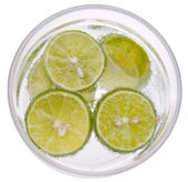 Seltzer with Limes — Stock Photo
