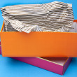 Orange and Pink Fancy Gift Box - Stock Photo