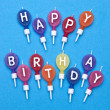 Vibrant Happy Birthday Candles — Foto Stock