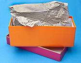 Orange and Pink Fancy Gift Box — Stock Photo