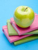 Kitaplar ve eğitim veya sağlık — Stok fotoğraf