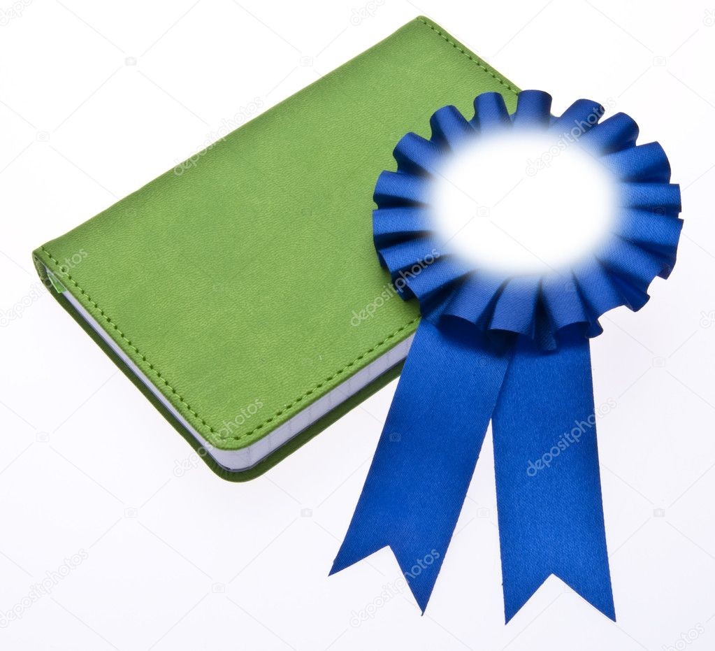 First Place Blue Ribbon on a Book for Education or Environmental Themed Imagery. — Stock Photo #3012531