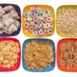 Variety of Breakfast Cereal — Stock Photo