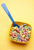 Cereal in a Vibrant Bowl — Stock Photo