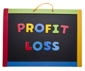 Lesson on Profit and Loss — Stock Photo