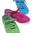 Colorful Canvas Shoes — Stok fotoğraf